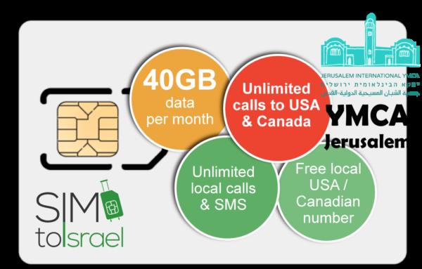 40GB-YMCA-USA_Canada-1 Israeli SIM card_simtoisrael