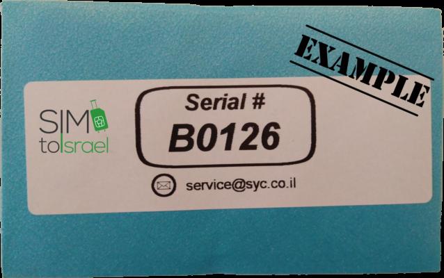 Take active SIM-Locker-envelopes serial number-example-simtoisrael